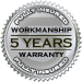 5 Year Warranty on Workmanship